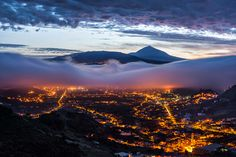 Teide Volcano with the City of La Laguna At Its Feet Photo and caption by Daniel Cejudo @Smithsonian Magazine