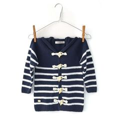 DIY Sailor Jacket - Tutorial and Pattern Crochet For Boys, Crochet Baby, Crochet Coat, Baby Coat, Coat Patterns, Baby Cardigan, Couture, Knit Jacket, Little Girl Dresses