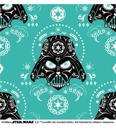 Star Wars™ Darth Vader Sugar Skulls Cotton Fabric 8.24 per yard