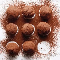 Bourbon-Caramel Truffles  (Site noted: Truffles typically have the added richness of cream and butter. These ingredients help stabilize chocolate, which tends to scorch, separate, or become grainy if not heated carefully. We add corn syrup and evaporated milk for smooth, creamy confections.)