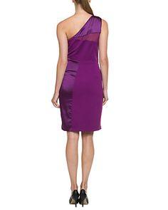 Womens One-Shoulder Ponte Dress Halston Heritage 3yErQe1