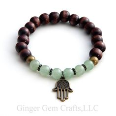 healing bracelet green aventurine energy by GingerGemCraftsLLC