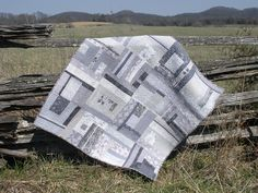 I like the idea of an all grey quilt.