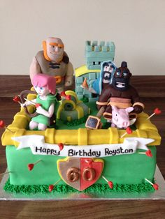 Clash Of Clans Cake Decorations