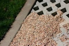 the Polished Pebble: Garden Design Element #1: Gravel Driveway-used turf pavers to hold the gravel.