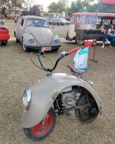 """steampunktendencies: """"Extreme repurposing: VW Beetle Bike… """""""