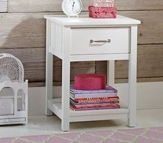Camp Nightstand. Thinking we may go with this night stand instead-looks like it would transition better into a night stand down the road next to toddler bed.