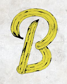 "Vanity_one's ""banana"" favorite pictures on VisualizeUs Typography Love, Typography Letters, Font Design, Design Art, Pop Art, Banana Art, Doodle Designs, Illustrations, Photoshop Design"
