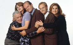 Frasier (1993-2004) John Mahoney, Jane Leeves, Kelsey Grammer, David Hyde Pierce, and Peri Gilpin