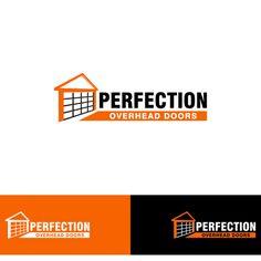 """Perfection Overhead Doors - Garage door company looking for the """"perfect """" logo"""