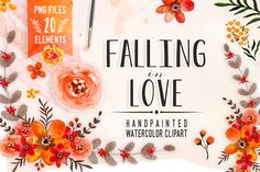 Falling in Love - watercolor clipart by DigitalCloud on Creative Market