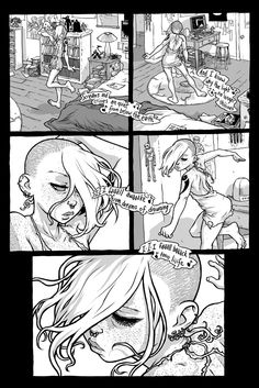 Comics artist Ross Campbell: a page from Wet Moon 5