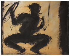 Jumping Shadowman on canvas 1982