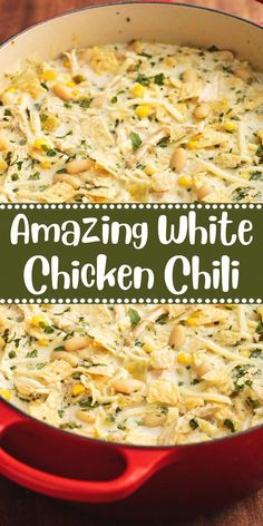 Amazing White Chicken Chili Recipes to Cook Mexican Food Recipes, Dinner Recipes, Fall Soup Recipes, Lentil Recipes, Cooking Recipes, Healthy Recipes, Crockpot Recipes, Easy Recipes, Crock Pot Soup Recipes