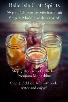 4 easy steps to create a delicious cocktail at home!