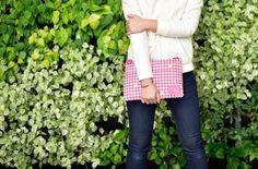 Pink Houndstooth: Single Pocket Bag by CiPU