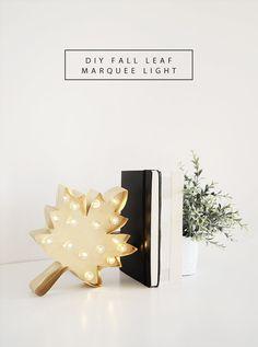 DIY Fall Leaf Marquee Light by Drawn to DIY @drawntodiy