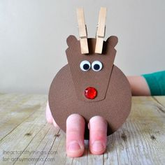 If you're looking for a fun and interactive Christmas craft for your kids this holiday season, try making this cute reindeer finger puppet craft!