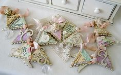 9 Honest Clever Hacks: Shabby Chic Home Beautiful Bedrooms vintage shabby chic art.Shabby Chic Pink And White shabby chic chairs porches. Shabby Chic Banners, Shabby Chic Crafts, Shabby Chic Interiors, Shabby Chic Homes, Shabby Chic Furniture, Shabby Chic Decor, Bunting Garland, Garland Ideas, Fabric Garland