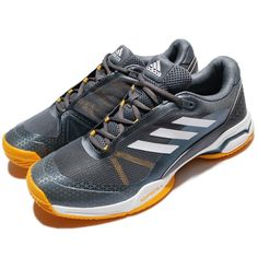 los angeles 9b293 4d81a adidas Barricade Club Silver Yellow White Men Tennis Shoes Sneakers BY1638  Barricada Adidas, Ebay,