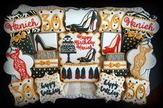 Louboutin-inspired 30th birthday cookies.