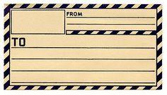 Vintage Clip Art - Old Gummed Parcel Post Label - The Graphics Fairy