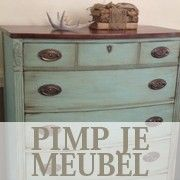 Chalk Paint dresser...I like the stained top