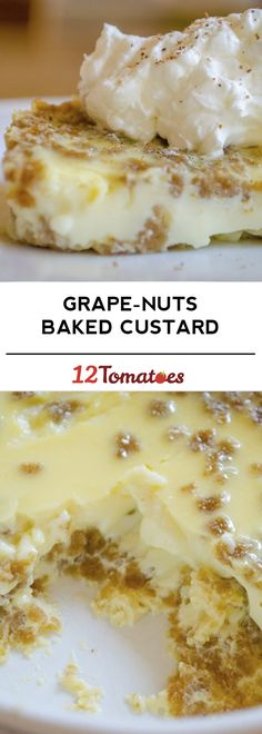 Grape-Nuts Baked Custard - classic New England recipe