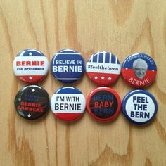 Bernie Sanders 2016 Presidential Campaign Collection by PinMeDown Bottle Opener Keychain, Bottle Openers, Political Slogans, Ribbon Colors, Bernie Sanders, Wall Street, Swag, Campaign, Pinback Buttons