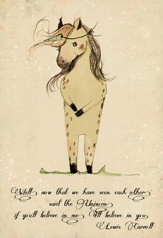 Unicorn quote, 'if you'll believe in me, I'll believe in you. Wall Art Print -BIG PRINT 11.69 x 16.54 inches (A3)