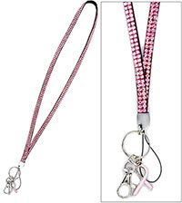 Pink Ribbon Bling Lanyard at The Breast Cancer Site