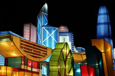 Hong Kong Lantern Festival Skyline - The 10 Most Colourful Chinese New Year 2014 Celebrations Around the World
