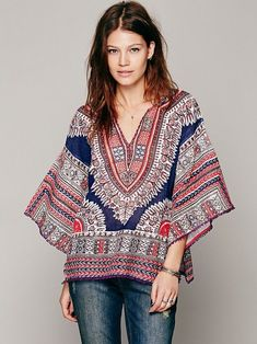 b0c154c6276 free People new romantics dashiki top African Print Fashion, Tribal  Fashion, Fashion Wear,