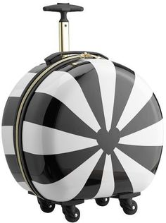 Pottery Barn Teen The Emily & Meritt Hard-Sided Pinwheel Stripe Round Carry-On Carry On Suitcase, Carry On Luggage, Luggage Bags, Travel Luggage, Travel Bags, Teen Luggage, Cute Luggage, Sun Shade Tent, Hard Sided Luggage