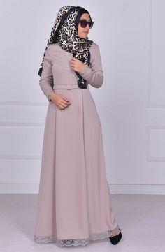 Sefamerve Stone Hijab Dress