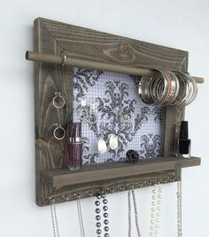 Jewelry Holder FREE SHIPPING Wood Wall Hanging by DivaDisplay
