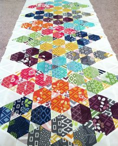 Half Hexi and Triangles Simply Triangles by Fresh Lemons Quilts