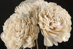 soft wooden flowers that look like peonies - bouquets
