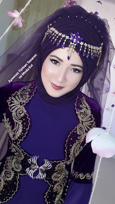 Hijabi Wedding, Muslim Girls, Fashion Beauty, Womens Fashion, Stylish Girl, Girl Pictures, Kaftan, My Girl, Saree