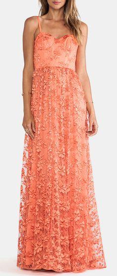 Alice + Olivia Tyler Flowy Maxi Dress in Orange---- omg I'm dying... Love love love!!!