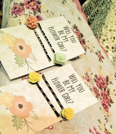 Will you be my Flower Girl by ArtofLifebyLaurenAnn on Etsy, $12.00