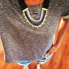 Natalie Necklace: Blue Statement Necklace | Stella & Dot