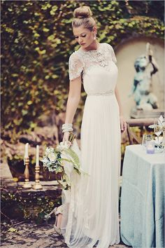 classic wedding dress #weddingdress @weddingchicks