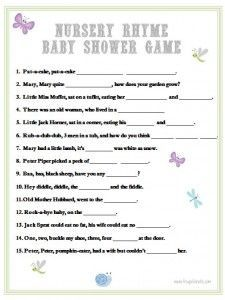 free printable baby shower games