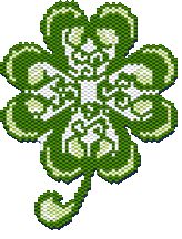 Ornate Shamrock by Megan's Beaded Designs Seed Bead Patterns, Beading Patterns, St Patricks Day, Saint Patricks, Beaded Banners, Celtic Symbols, Brick Stitch, How To Make Beads, Seed Beads