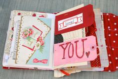 Valentine Art journal
