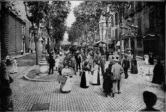 Las Ramblas in Barcelona long time ago