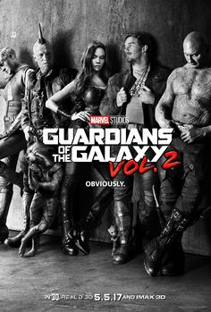 See the first poster of #GuardiansOfTheGalaxy2, featuring Chris Pratt and Zoe Saldana! The film stars Chris as Star-Lord, Zoe as Gamora, Dave Bautista as Drax, Karen Gillan as Nebula, Vin Diesel as the voice of Groot, Bradley Cooper as the voice of Rocket, Michael Rooker as Yondu, and Sean Gunn as Kraglin. The film is scheduled to hit theaters in May of 2017