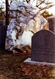 Ralph Waldo Emerson's Grave and Stone