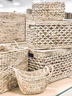 MARBELLA Metal Stool Storage Bin Vintage Retro Laundry Basket Choose Your Size